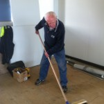 Don testing new broom